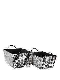 ideal-home-set-of-2-black-diamond-baskets
