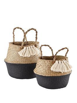 ideal-home-set-of-2-tasseled-belly-baskets