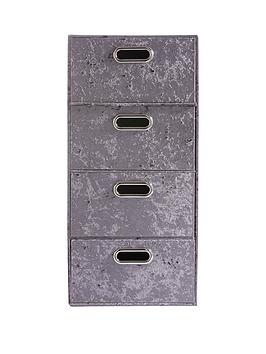 crushed-velvet-set-of-4-drawers