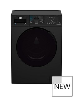 Beko WDB7426R1B 7Kg/4kg 1200 Spin Washer Dryer - Black