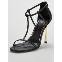 Bare Strappy Spike Heeled Sandals   Black by Michelle Keegan