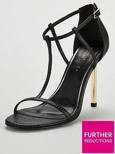 0377e80bc1ae Michelle Keegan Bare Strappy Spike Heeled Sandals - Black