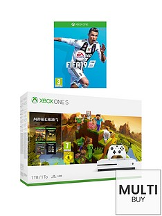 xbox-one-s-minecraft-creator-1tb-console-bundle-with-fifa-19-and-optional-extras
