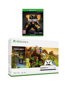 xbox-one-s-minecraft-creator-1tb-console-bundle-with-call-of-duty-black-ops-4-andnbspoptional-extras