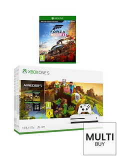 xbox-one-s-minecraft-creator-1tb-console-with-forza-horizon-4-and-optional-extras