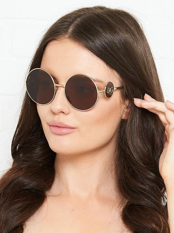 real deal hot new products on feet images of Round Gold Sunglasses - Gold