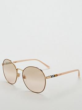 burberry-round-gold-sunglasses