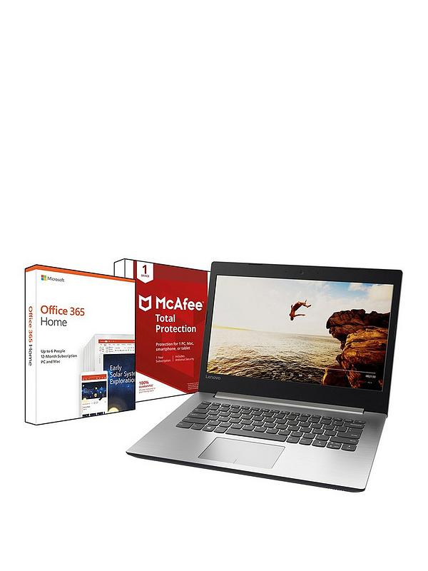 Ideapad 320 Intel® Core™ i5 Processor, 8Gb RAM, 128Gb SSD, 14 inch Laptop  Platinum with Microsoft Office 365 Home 1 Year and McAfee Total