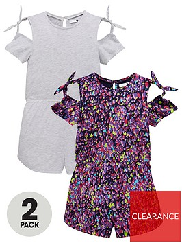 v-by-very-girls-2-pack-printed-jersey-playsuitsnbsp--multi