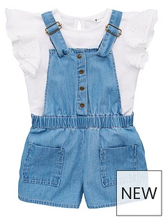 b4d862dcfd3b Mini V by Very Girls Frill Top   Dungaree Outfit - Multi