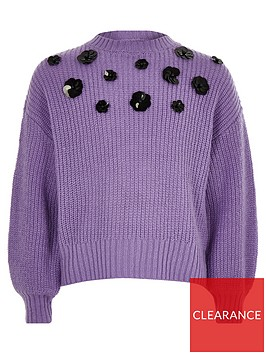 river-island-girls-purple-floral-sequin-slouch-jumper