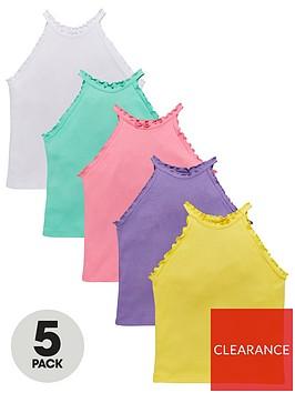 v-by-very-girls-5-pack-halter-vests-multi