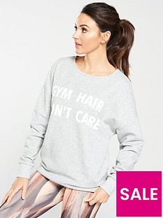 michelle-keegan-cross-back-longline-slogan-sweat-grey-marl