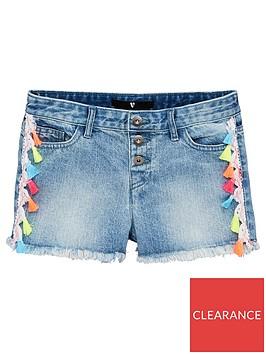 v-by-very-girls-tassel-denim-shorts-blue