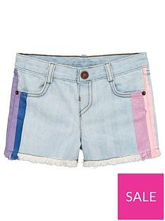 mini-v-by-very-girls-hand-painted-side-stripe-denim-shorts-blue