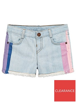 mini-v-by-very-girls-hand-painted-side-stripe-denim-shorts-blue