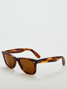 65ccf46d88f Ray-Ban Tortoise Frame Lens Rectangle Sunglasses - Brown