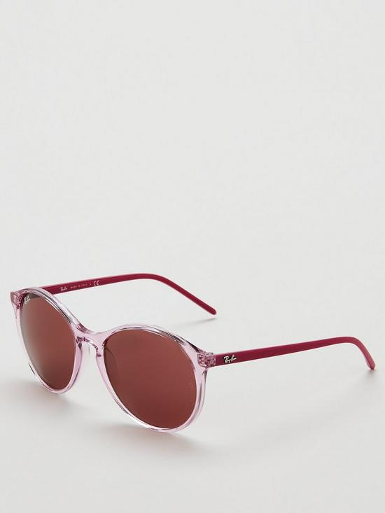 0d0a954a1 Ray-Ban Phantos Round Transparent Sunglasses - Pink | very.co.uk