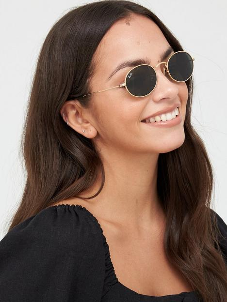 ray-ban-ovalnbspsunglasses-gold