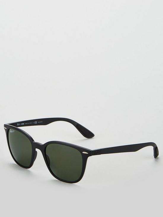 a62eba219d38 Ray-Ban Rayban Square Matte Black Sunglasses | very.co.uk