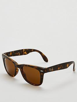 ray-ban-folding-wayfarer-tortoise-sunglasses--nbsplight-havana