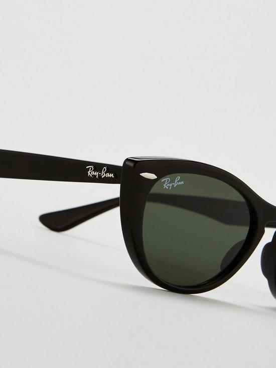 9e397712c69a ... Ray-Ban Nina Cateye Thick Tinted Lens Sunglasses. View larger
