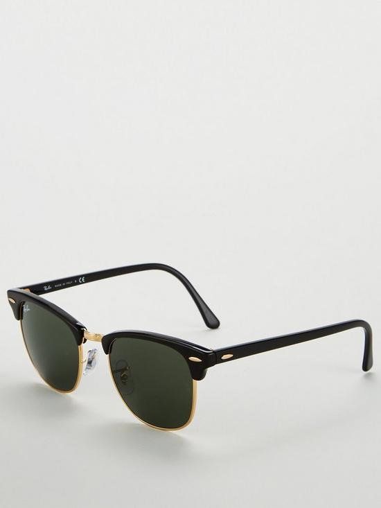 ceaee0a1cbb Ray-Ban Clubmaster Square Sunglasses - Black