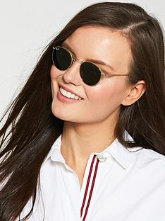 ray-ban-round-flat-top-sunglasses-goldgreen