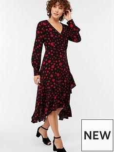 monsoon-scarlett-spot-print-midi-dress-black