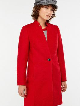 monsoon-jenny-boucle-coat-red