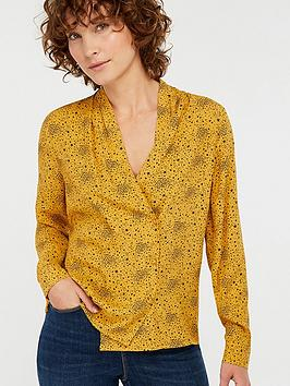 monsoon-celleni-star-print-blouse-mustard-yellow