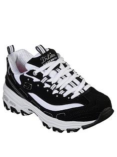 skechers-dlites-layered-lace-up-trainers-blackwhite