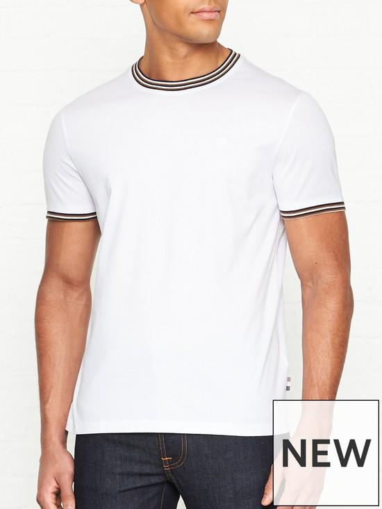 18399b9cf AQUASCUTUM Dorval Tipped Collar T-shirt - White