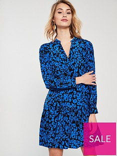 whistles-dropped-hem-jungle-cat-dress-blue