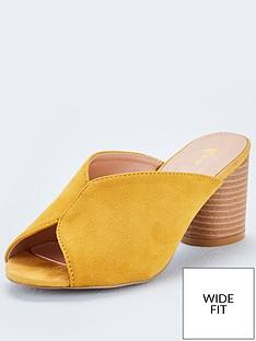 074068c3b5b7 Michelle Keegan Gracie Peep Toe Wide Fit Oval Heeled Mule