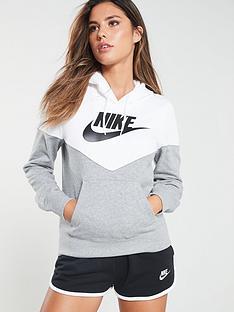 4196ae751926 Nike Sportswear Heritage Hoodie - Dark Grey Heather