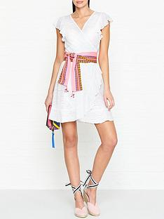 pitusa-llama-tassel-wrap-dress-white