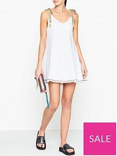 pitusa-llama-tassel-tie-shoulder-dress-white