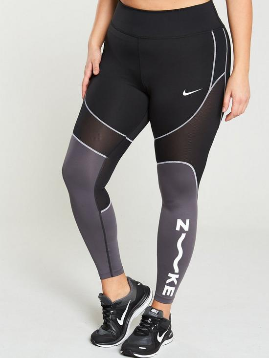 save off d98fd 4b489 Nike The One Legging (Curve) - Black Grey   very.co.uk