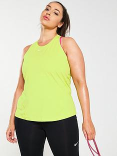 3105389b2f6bc Nike Training All Over Mesh Tank (Curve) - Lime