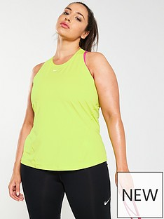 5f179e24fb91e Nike Training All Over Mesh Tank (Curve) - Lime