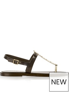 melissa-flat-star-embellished-toe-post-sandals-black