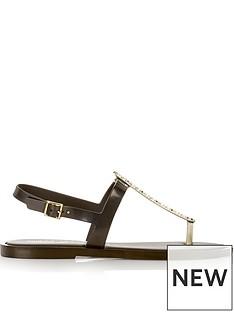 melissa-flat-star-embellished-toe-post-sandals-black