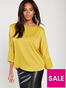 river-island-batwing-woven-top-yellow