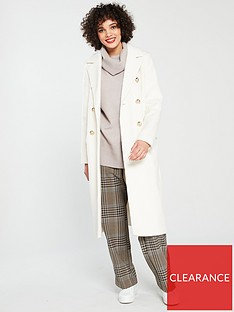 river-island-river-island-double-breasted-classic-coat-cream
