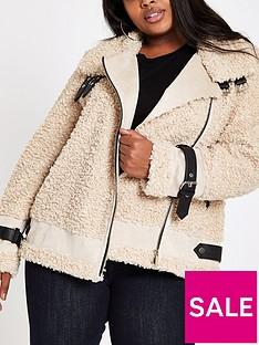 ri-plus-faux-fur-aviator-jacket-brown
