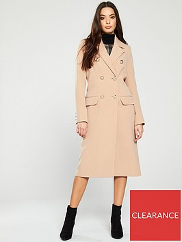 river-island-river-island-long-line-classic-double-breasted-coat-camel