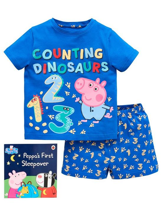 068f85155710 George Pig Boys Shorty Pyjamas With Book