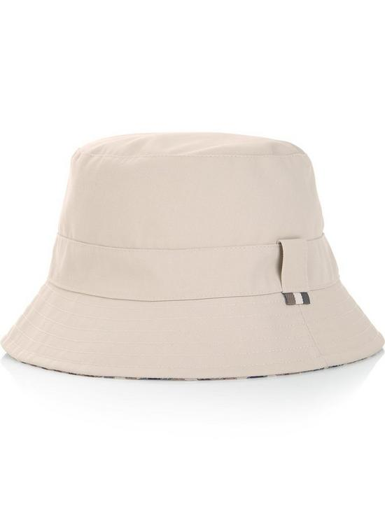 e5df72ad90a AQUASCUTUM Men s Club Check Reversible Bucket Hat - Vicuna