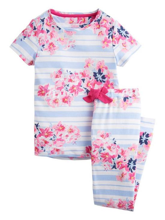 c1dddd4fd Joules Girls Lark Floral Stripe Pyjama Set - Floral Print | very.co.uk